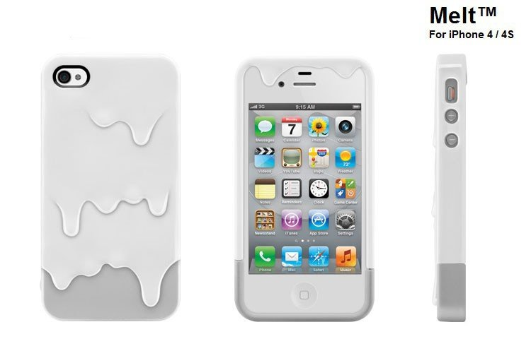 Wholesale colorful Switch Easy Ice cream melt hard case for iphone 4G 4S with retail package,Free shipping 10pcs/lot
