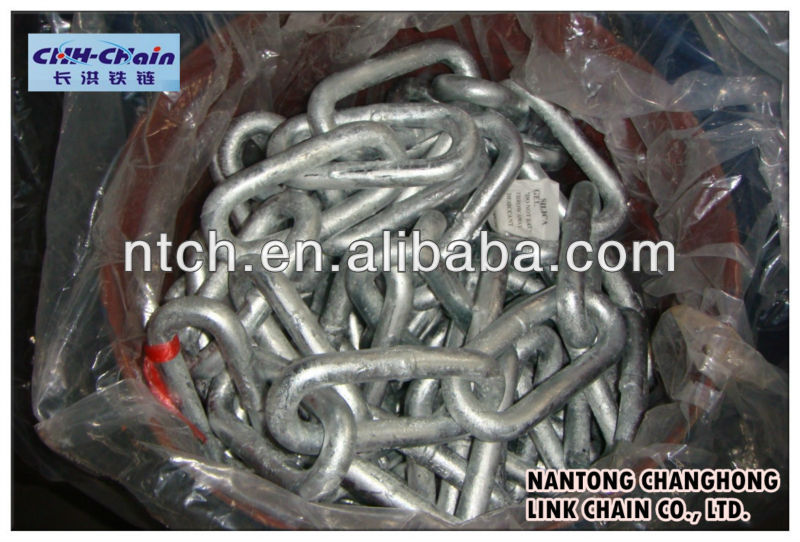 steel chain, zinc plated chain, proof coil chain NACM/ASTM standard(Grade 30)