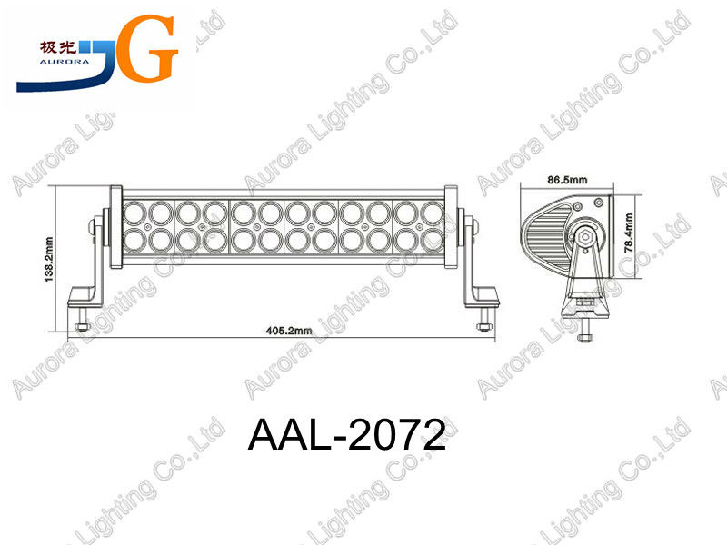 "14"" 72watt cree combo led driving light bar AAL-2072"
