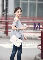 Hot selling New style with round neckline Soft cotton fashionable Lace sleeve Gray,Black Mini cheap cute clothes for women
