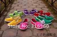 Best selling! Fashion women classic slip on flats casual canvas shoes  Free shipping 1pair