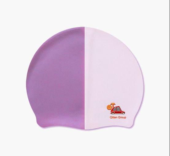 Printied logo make a swim cap silicone fashionable swim caps for team