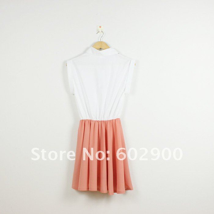 dresses new fashion 2012, turn-down collar women shirt dress/skirt, promotional office ladies' dresses, free shipping prom dress