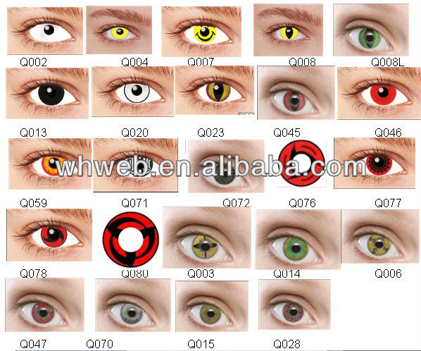 Real Sharingan Eye Contacts Fashion cool sharingan crazy