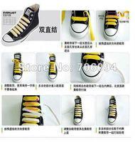 Неоновые шнурки для обуви 50pairs/lot, 130 * 0,8 ,