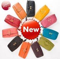 100%  Genuine leather  evening bag,clutch/wristlet bag w/ strap handbag JJ0387