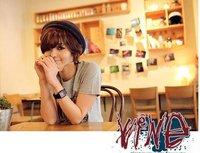 Женская футболка 2012 summer new product ladys' wear, the short sleeve circle gets floral T-shirt Shan 4018