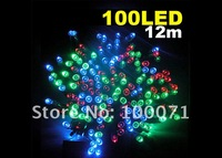 Светодиодная лампа 12M 100 Multicolor Colorful LED Light Solar String Lamp Festival Deco Garden [21350|01|01