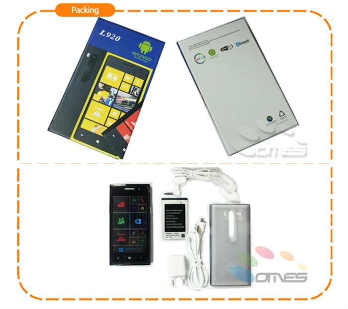 FM BT WIFI HD Auto Focus camera L920 cdma gsm android mobile phone