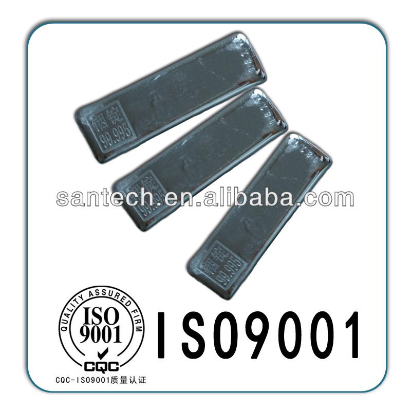 China indium tin oxide / Galinstan / 7440-74-6 99.99% In2O3 meta indium powder indium ingot