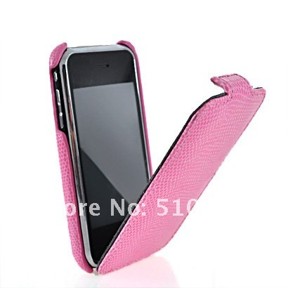 SNAKE SKIN FLIP HARD BACK CASE COVER + SCREEN FOR  3G 3GS
