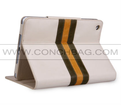 2014 CONCHBAG! luxury cases for ipad mini 3,stripes splice style case for ipad mini3