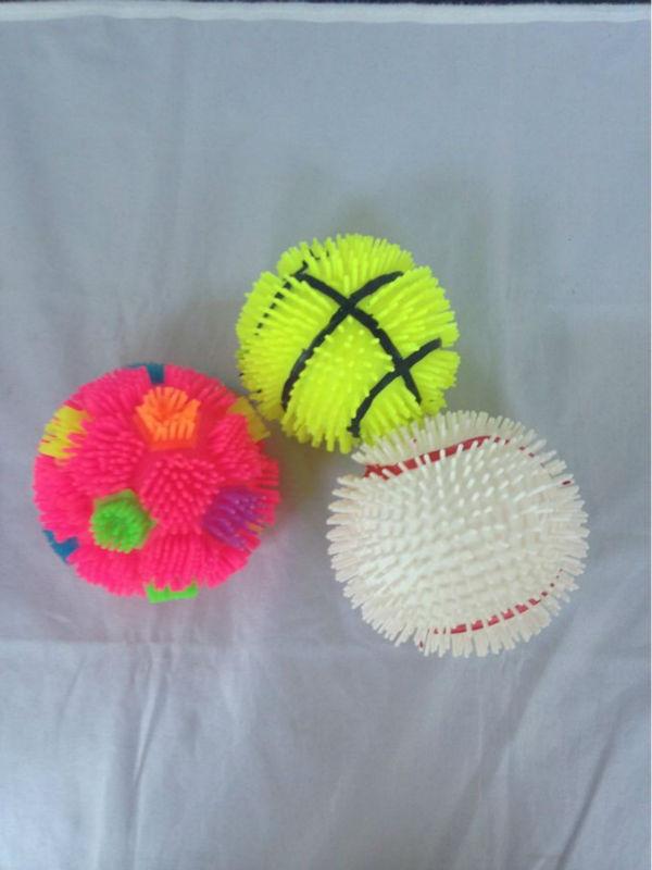 "4""baseball, basketball, football puffer ball toys"