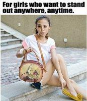 Сумка Vintage Retro School Campus Girl Satchel Shoulder Cross Body Bag HandBag Brown