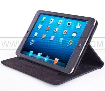 for ipad mini leather case, folio stitching PU leather case for ipad mini