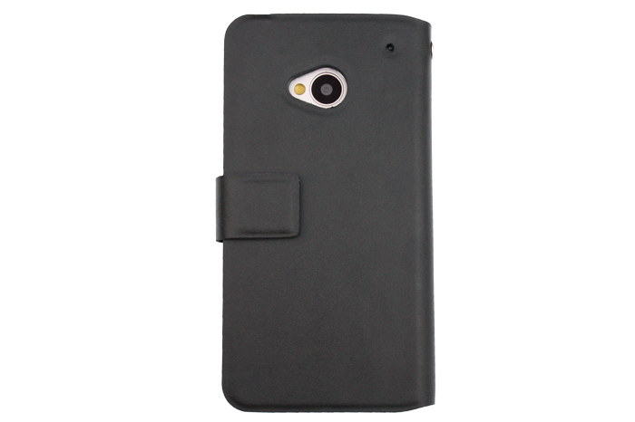 special design leather phone case with plug-in card for HTC one M7