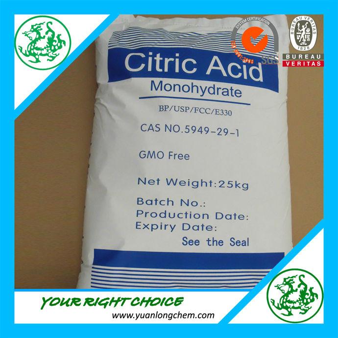 Concurrentiel prix de citrique monohydrate d 39 acide anhydre - Acide citrique anhydre ...