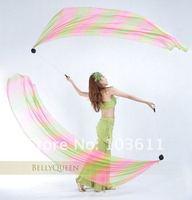 Женская одежда 2012 Belly Dance Veil Poi, 1 SET = 2 Veils + 2 Poi Chains