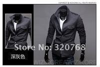 Мужской блейзер 2013 new fashion Slim suit collar one button suit jacket high quality M-XXL