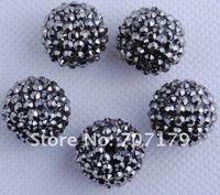 Бусины DIY 24mm Shamballa Mix Color Epoxy Rhinestone, Round Disco Ball Pave Beads, Resin Crystal Spacers Beads Jewelry Finding 100pcs