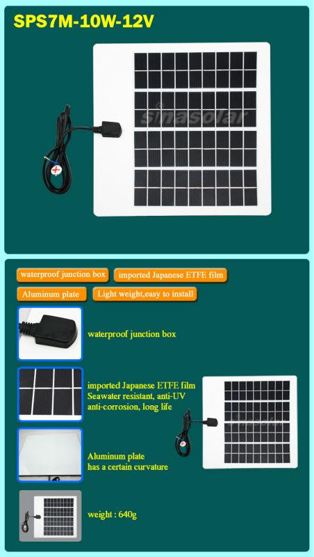 Special Price Semi-Flexible 10W 12V Module Monocrystalline Solar Panel