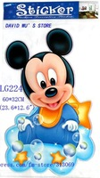 Стикеры для стен 60*32cm, wall stickers, pixar car cartoon Stickers, Mickey, ben boy, thomas train, SHC068, 20pcs/lot