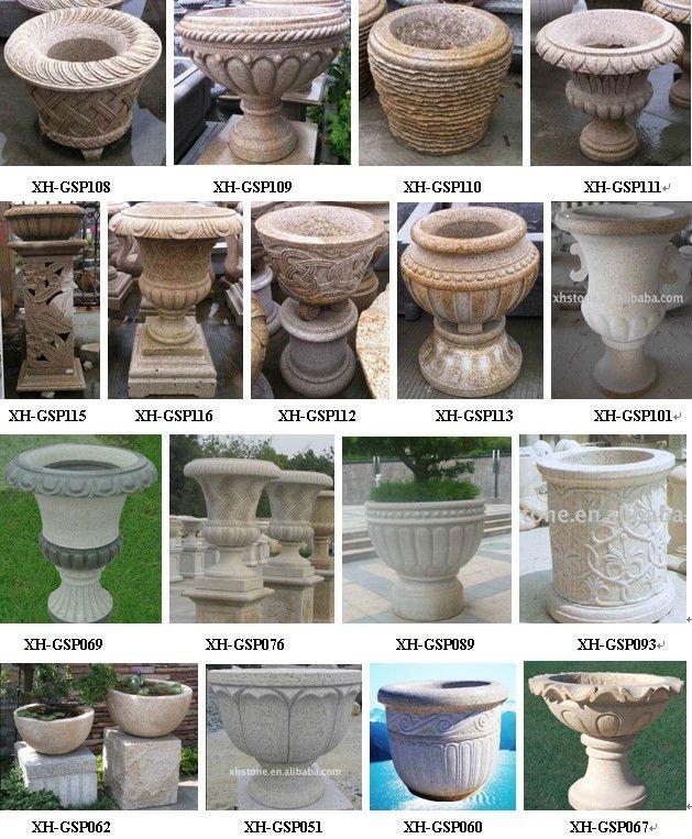 pedra cimento jardim:Pedra do jardim vasos de flores, Granito jardim, Jardim decorações