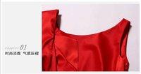 2012 fashion red dresses sleeveless slim pencil evening dress