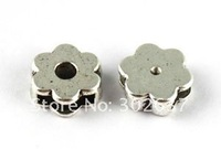 FREE SHIPPING 120pcs Tibetan silver slide flower for band pet collar A14536