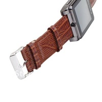 Мобильный телефон by China Post! Quad-bands Ultra thin Wristed watch phone S9110 with real leather wristband; Support Compass, camera