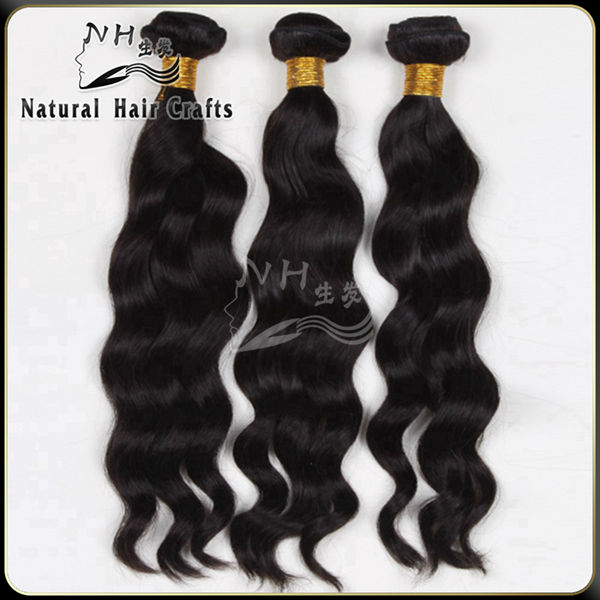 natural hair products grade 7A 2014 top selling peruvian wavy hair