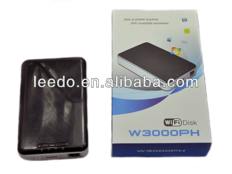 WIFI 2.5 SATA Hard Disk Drive Enclosure with USB 3.0 & eSATA , HDD External Case