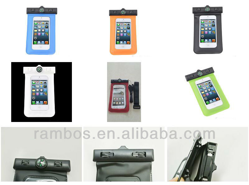 pvc waterproof pouch bag for iphone 4 5 5s