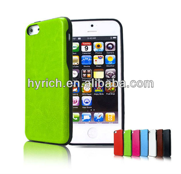 simple style pu for iphone 5c leather case with high quality