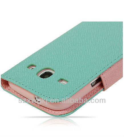 Candy color wallet leather Case for samsung galaxy core i8260 i8262