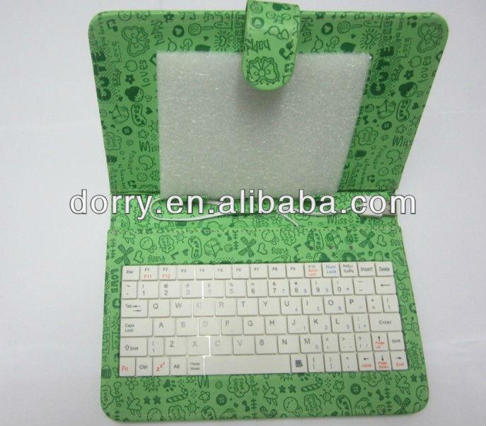 """7"""" keyboard case for ipad mini,black micro usb port tablet keyboard case 7 inch ,7 inch tablet pc keyboard/cas"""