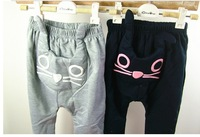 Детская одежда для девочек 3/25 Retai Baby cute cat design pants, Kids girls boys Haren pants, Children Autumn new trousers