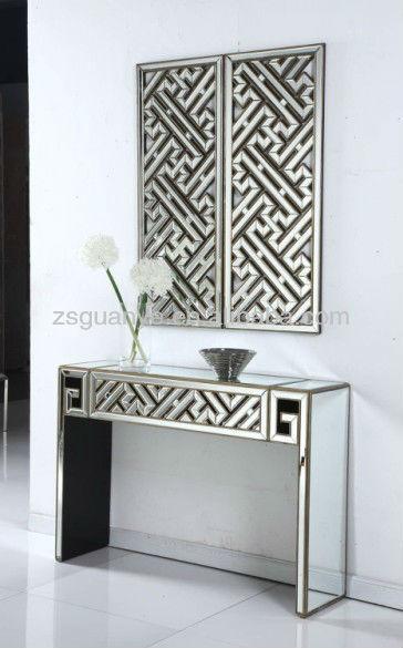antique fini table console avec miroir tables en verre id. Black Bedroom Furniture Sets. Home Design Ideas