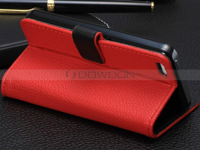 For iPhone 5C Leather Case with Credit Card Slots