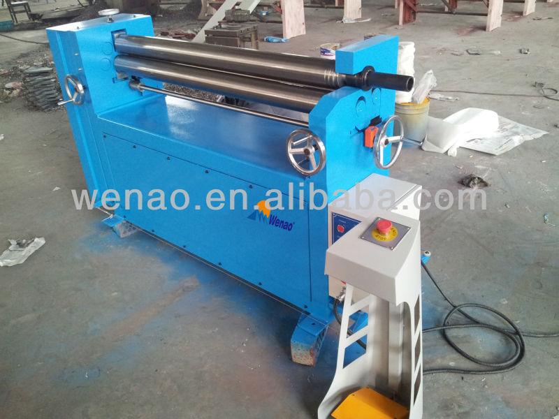 W11 series mechanical, 3-roller manual sheet metal rolling machine&machinery sheet bending machine