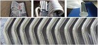 Система охлаждения 2.75' 600MM LENGTH SLIVER POLISHED HARD ALUMINUM PIPING BAND NEW RETAIL DIY TURBO INTERCOOLER STRAIGHT PIPING