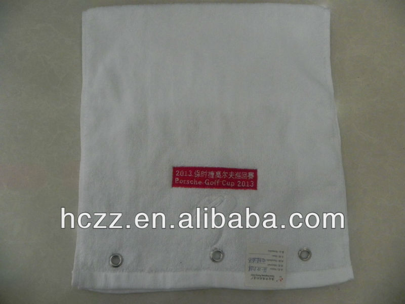 cotton and terry velour golf towel