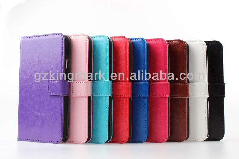 Fancy Smart Leather Case For Samsung Note 3 With PC
