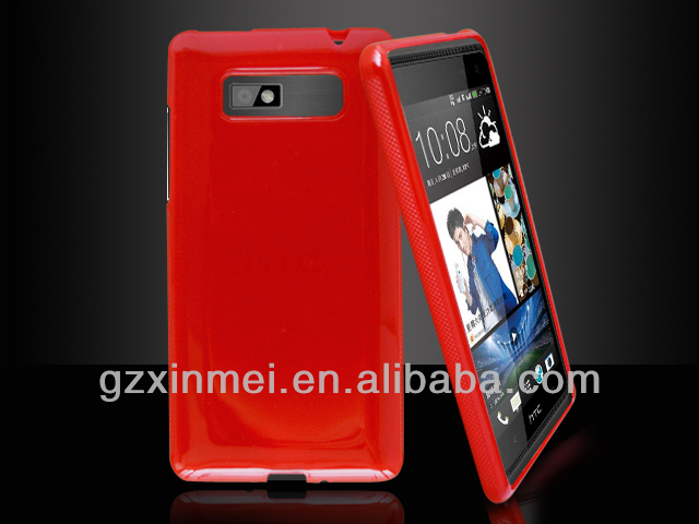 HOT SELLING glossy TPU capa de celular for htc desire 600