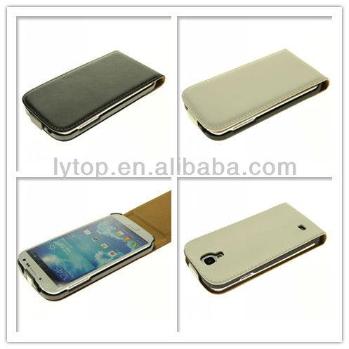 Genuine leather flip case for Samsung Galaxy i9500