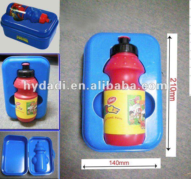 hot plastic water bottle kids bento lunch box buy kids. Black Bedroom Furniture Sets. Home Design Ideas