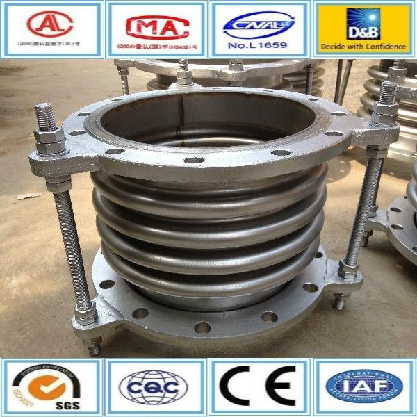 Circular flange connection steel corrugated compensator