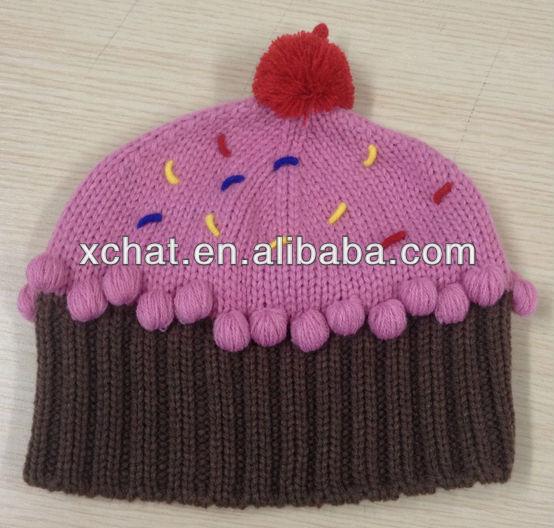 Free Knitting Patterns For Childrens Beanie Hats : Free Knitting Pattern Hat Beanie Baby Autumn Winter Children Knitted Baby Gir...