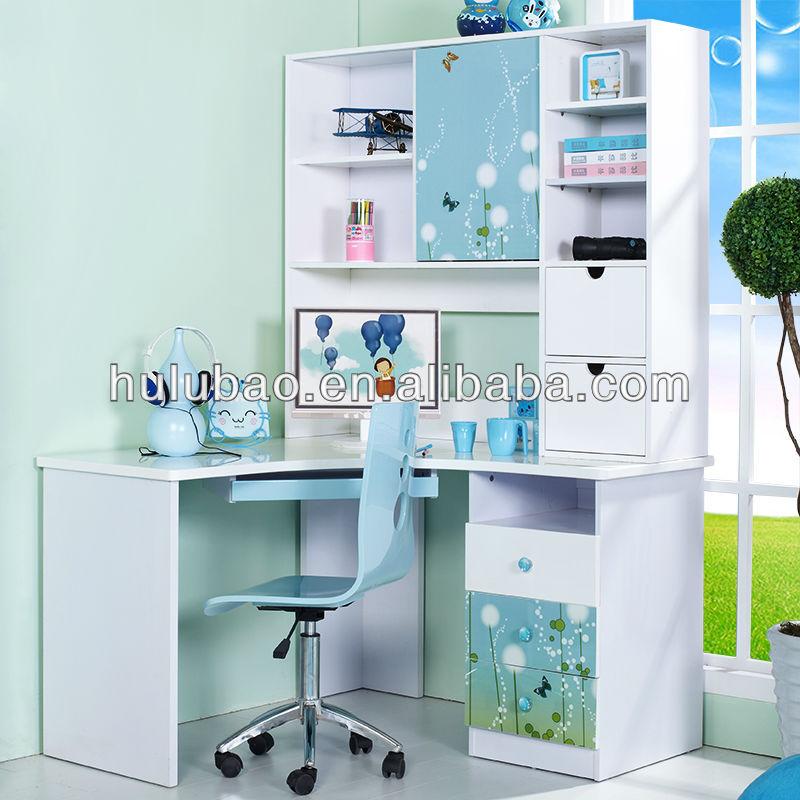 901 Children Kids Modern Study Desk With Cabinet Shelf Drawer Bookcase Computer
