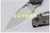 EMS free kevin TC4+D2 steel Strider SMF tank   DROP POINT stonewashed folding knife,strider stonewashed D2 DROP POINT blade